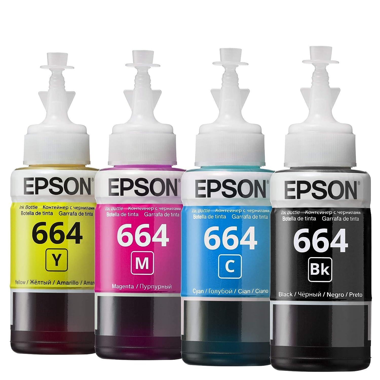 Epson T6642 EcoTank - Cartucho de tinta, 1 unidad, color negro ...