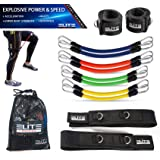 Elite Supplies 11 Pieces Speed Agility Strength Leg Resistance Bands - for All Sports & Exercise Fitness Fast Sprinting, Expl