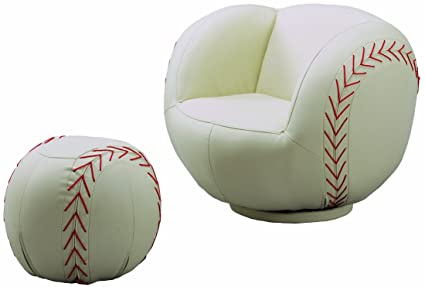 Amazing Crown Mark Baseball Chair/Ottoman