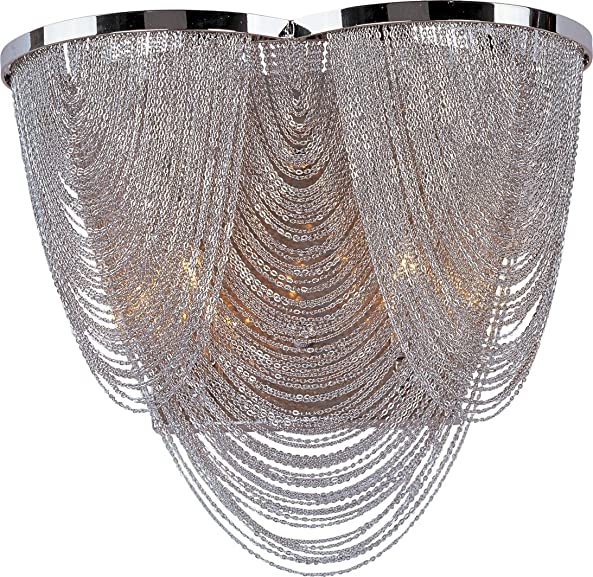 Maxim 21469NKPN Chantilly Jewelry Chain Wall Sconce