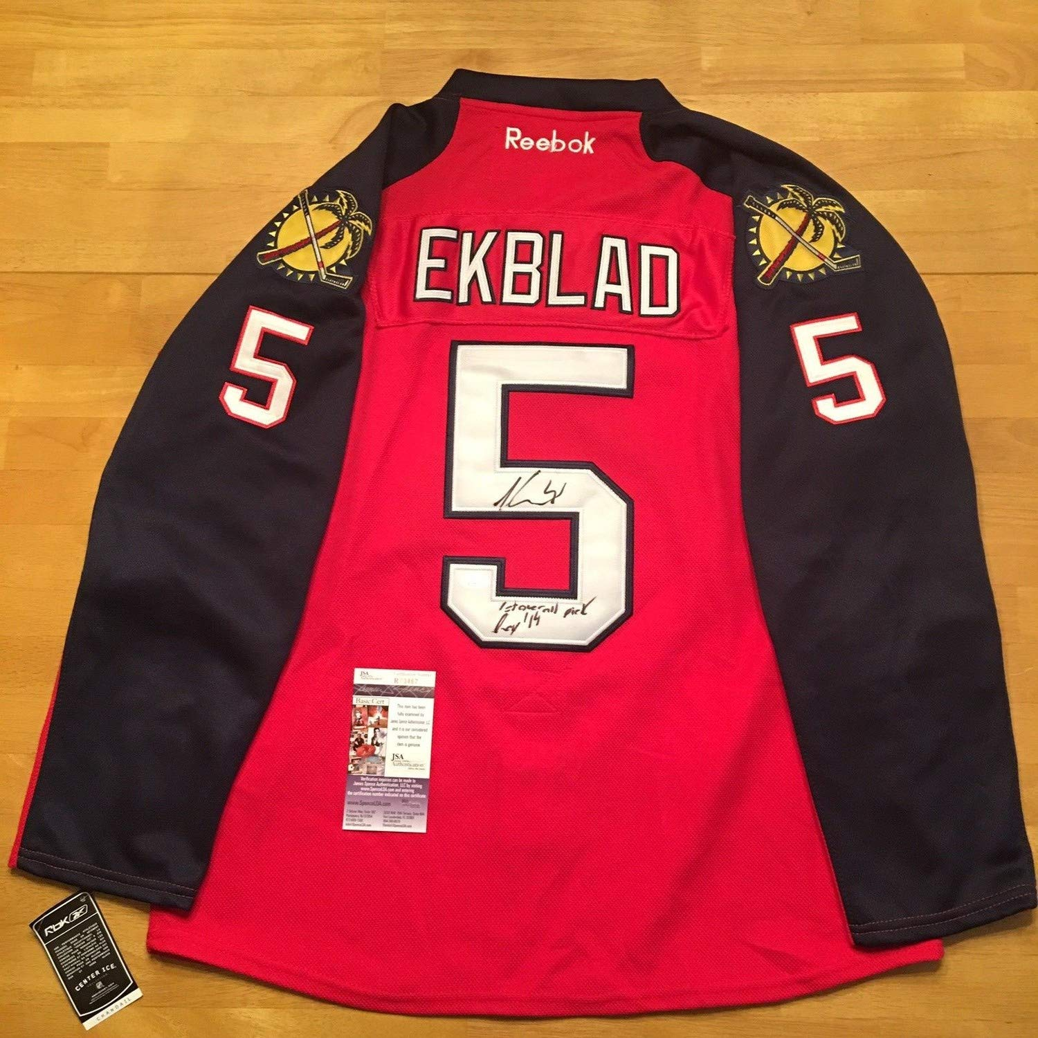purchase cheap 69ac4 dad9e Aaron Ekblad Autographed Signed Florida Panthers Reebok ...
