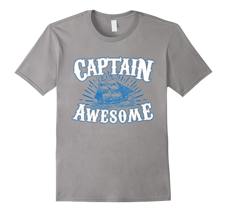 3c3ba29e Funny Captain Awesome T-shirt – Hntee.com