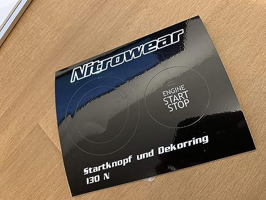 Nitrowear Startknopf Wrapping-Kit Hyundai i30 N Schwarz-matt
