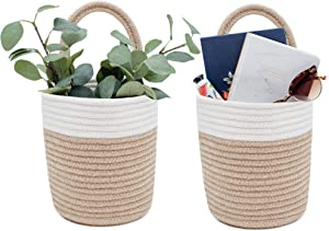 Signature Home 2pc Hanging Basket, Small Basket 7.9