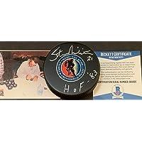 $119 » Stan Mikita Chicago Blackhawks HOF 83 Signed HALL OF FAME Puck Beckett COA