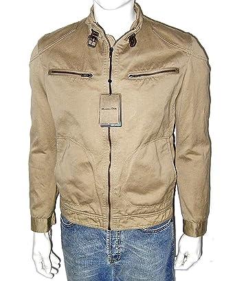 MASSIMO DUTTI Hombre Chaqueta, Tiempo Libre, Desert Biker – Jacket Vintage Lino Bike Chaqueta