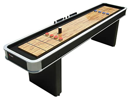 Swell Atomic 9 Platinum Shuffleboard Table With Poly Coated Playing Surface For Smooth Fast Puck Action And Pedestal Legs With Levelers For Optimum Home Interior And Landscaping Mentranervesignezvosmurscom