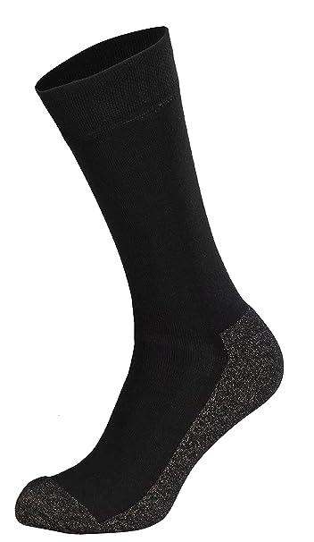 Tobeni 2 pares de calcetines deportivos calcetines técnicos con X-Static, Color:Negro;Tamaño:39-42: Amazon.es: Ropa y accesorios