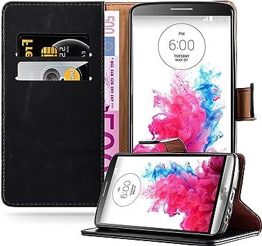 Cadorabo Funda Libro para LG G3 en Negro Grafito – Cubierta ...