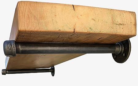 industrial pipe shelf brackets by diy cartel hardware only rh amazon co uk