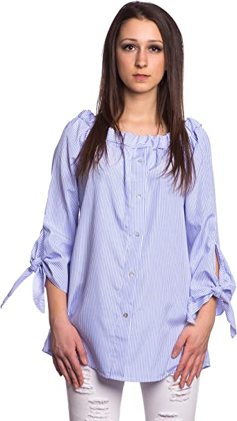Abbino 16392 Blusa Top para Mujer 2 Colores - Entretiempo ...