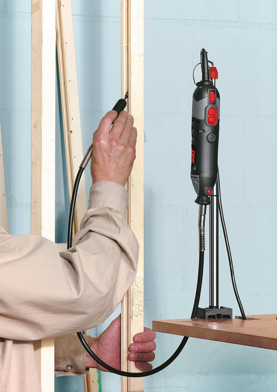 Skil 1415AC Outil Rotatif Multifonction 125W, Lampe, Poign/ée, Arbre flexible, Set de 25 pi/èces pour Meulage, Pon/çage et Polissage, Coffret