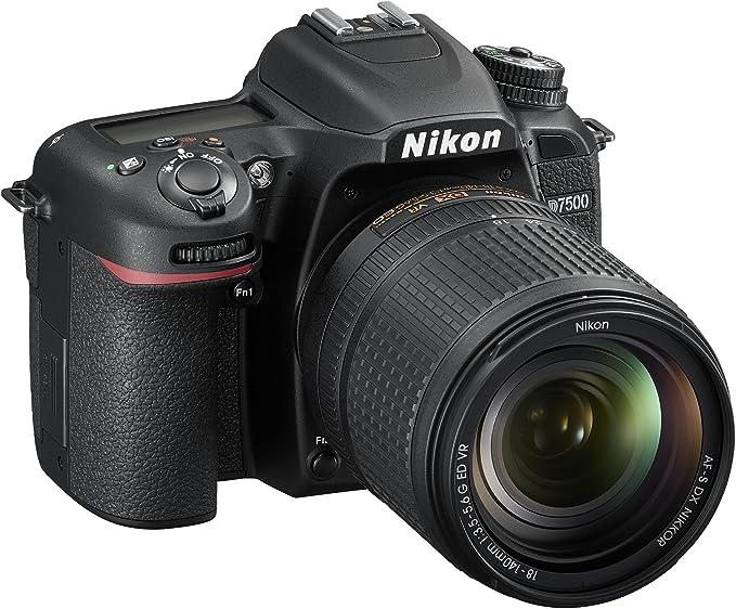 Nikon D7500Cámara réflex Digital, 20.9Mpx, SD de 8GB 200x Premium Lexar