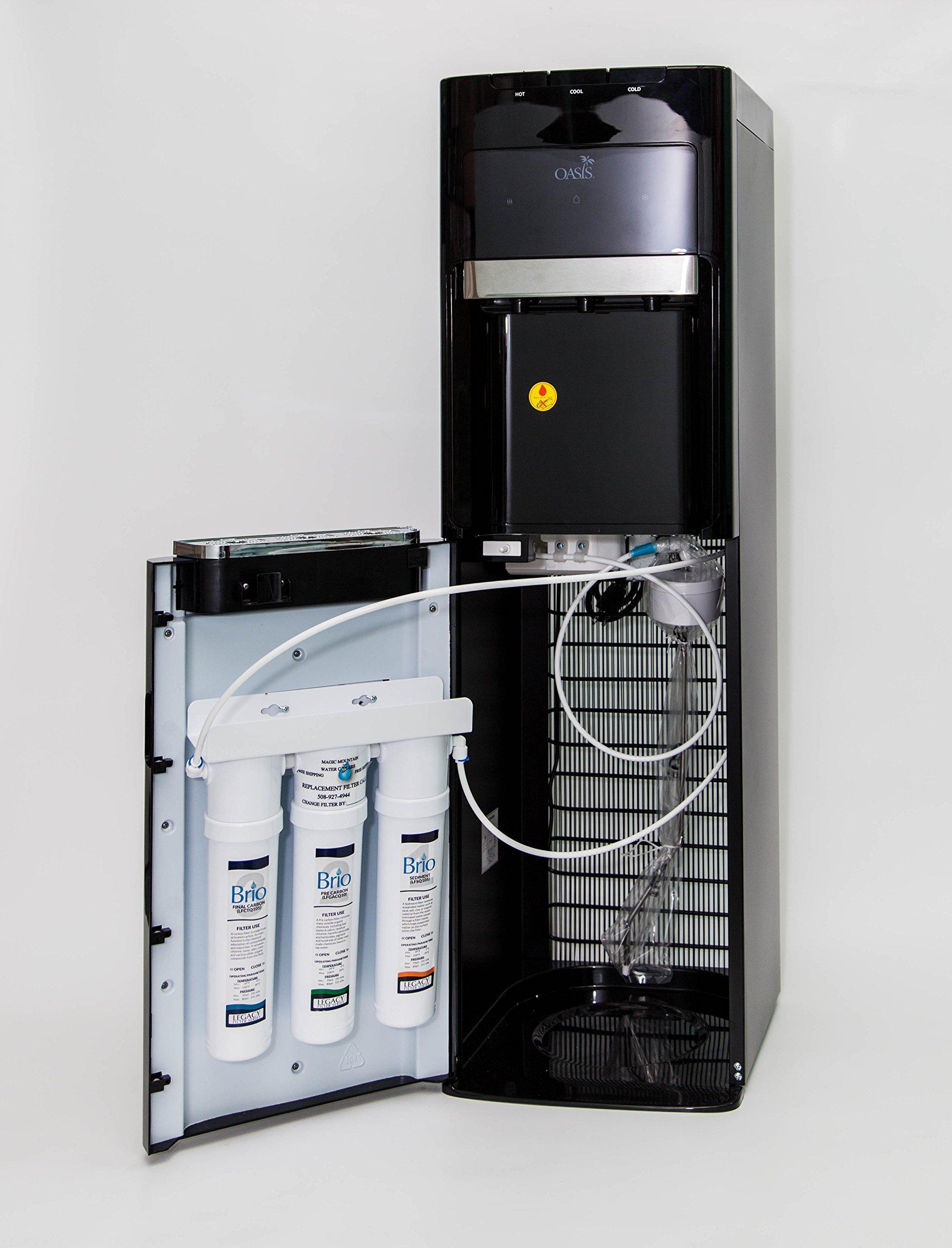 Oasis Bottleless Water Dispenser, Tri-Temp (Hot, Cold, Room-Temp) (3 Stage EZ Change)