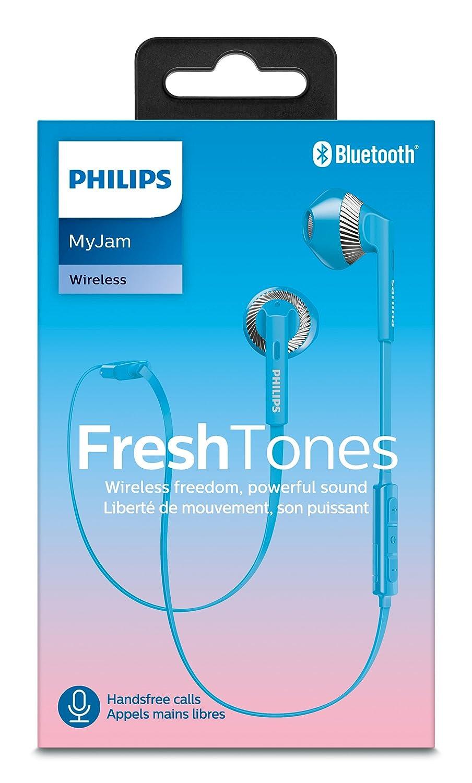 Philips SHB5250BL/00 - Auriculares (Inalámbrico, Dentro de oído, Binaural, Intraaural, 8-24000 Hz, Azul): Amazon.es: Electrónica