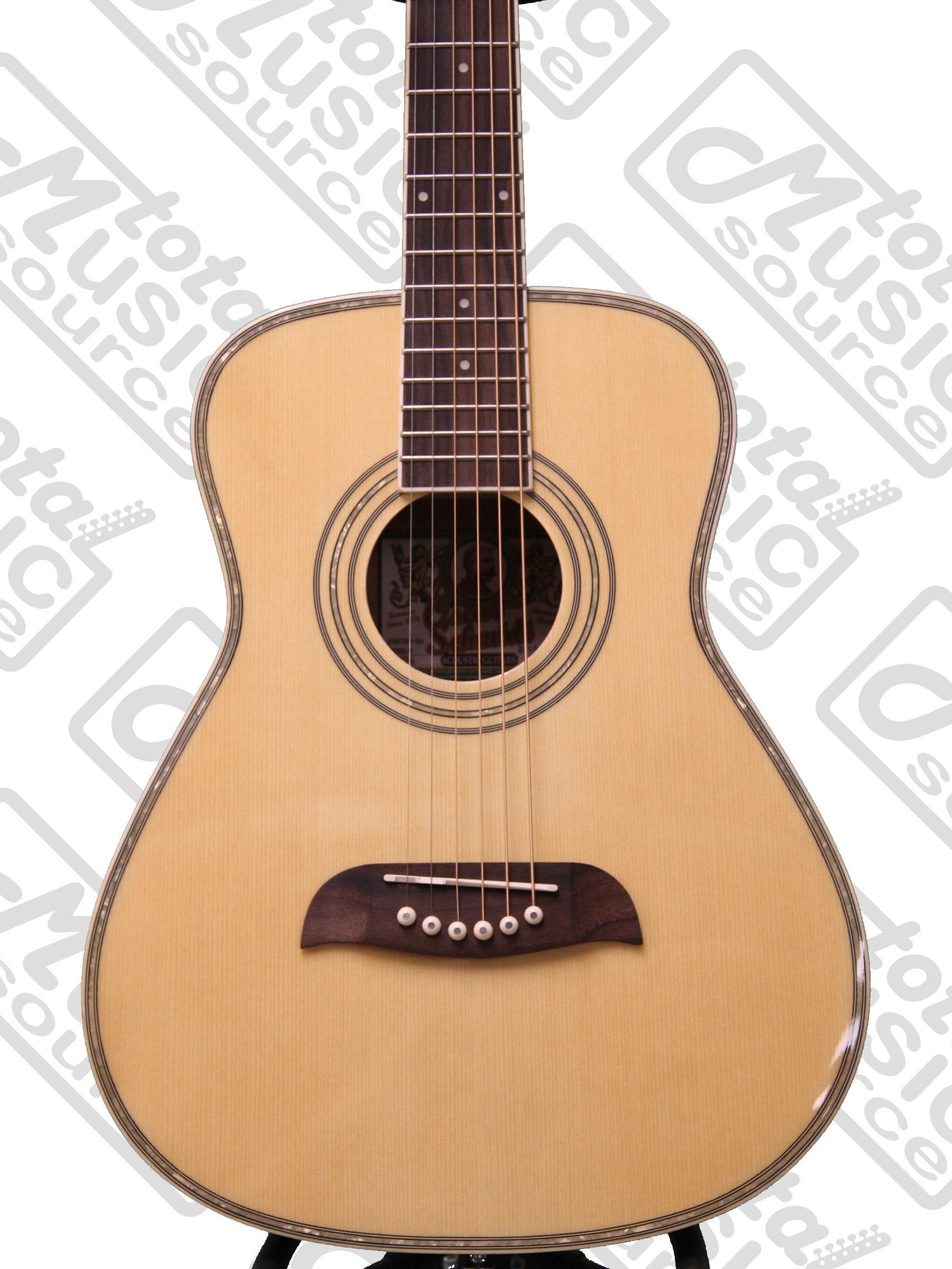 left hand oscar schmidt 1 2 size acoustic guitar natural lefty oghslh guitar affinity. Black Bedroom Furniture Sets. Home Design Ideas