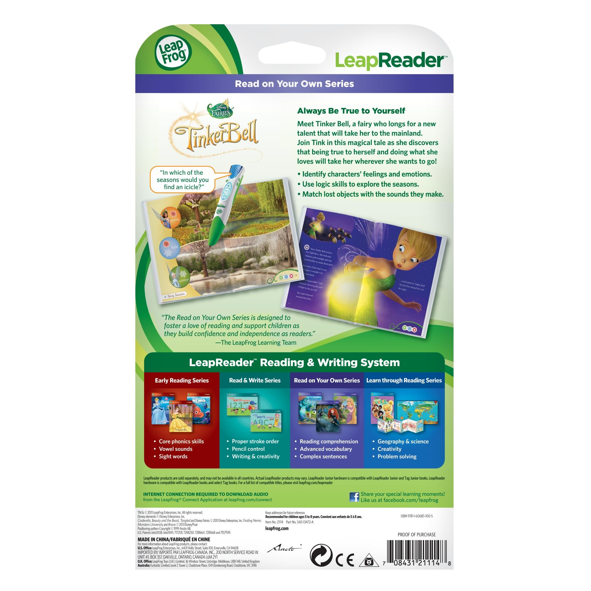 LeapFrog LeapReader Book: Disney Fairies Tinker Bell's True Talent (works with Tag) by LeapFrog (Image #5)