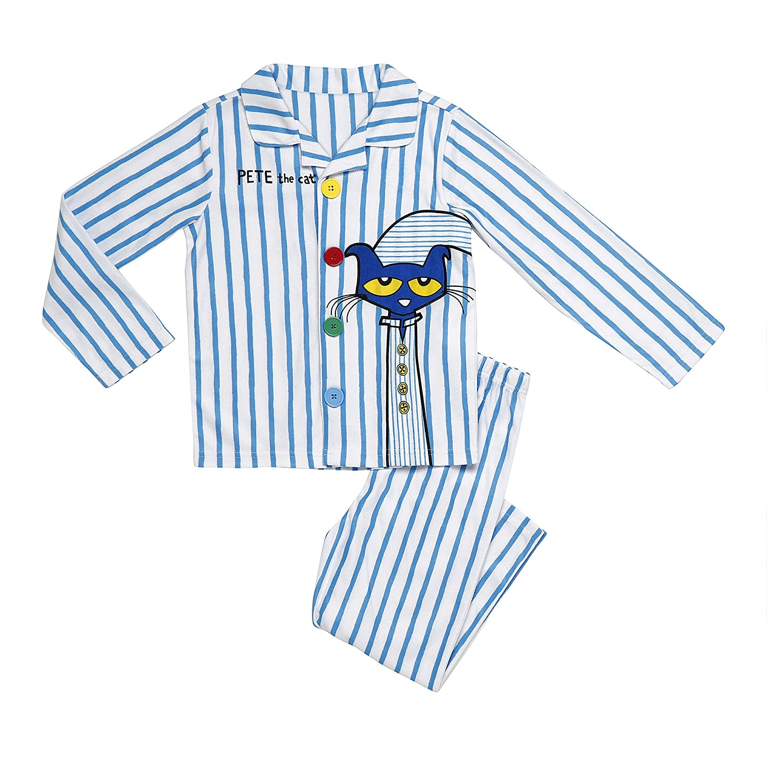 Pete the Cat Boys' 2-Piece Button Front Pajamas Set K41114