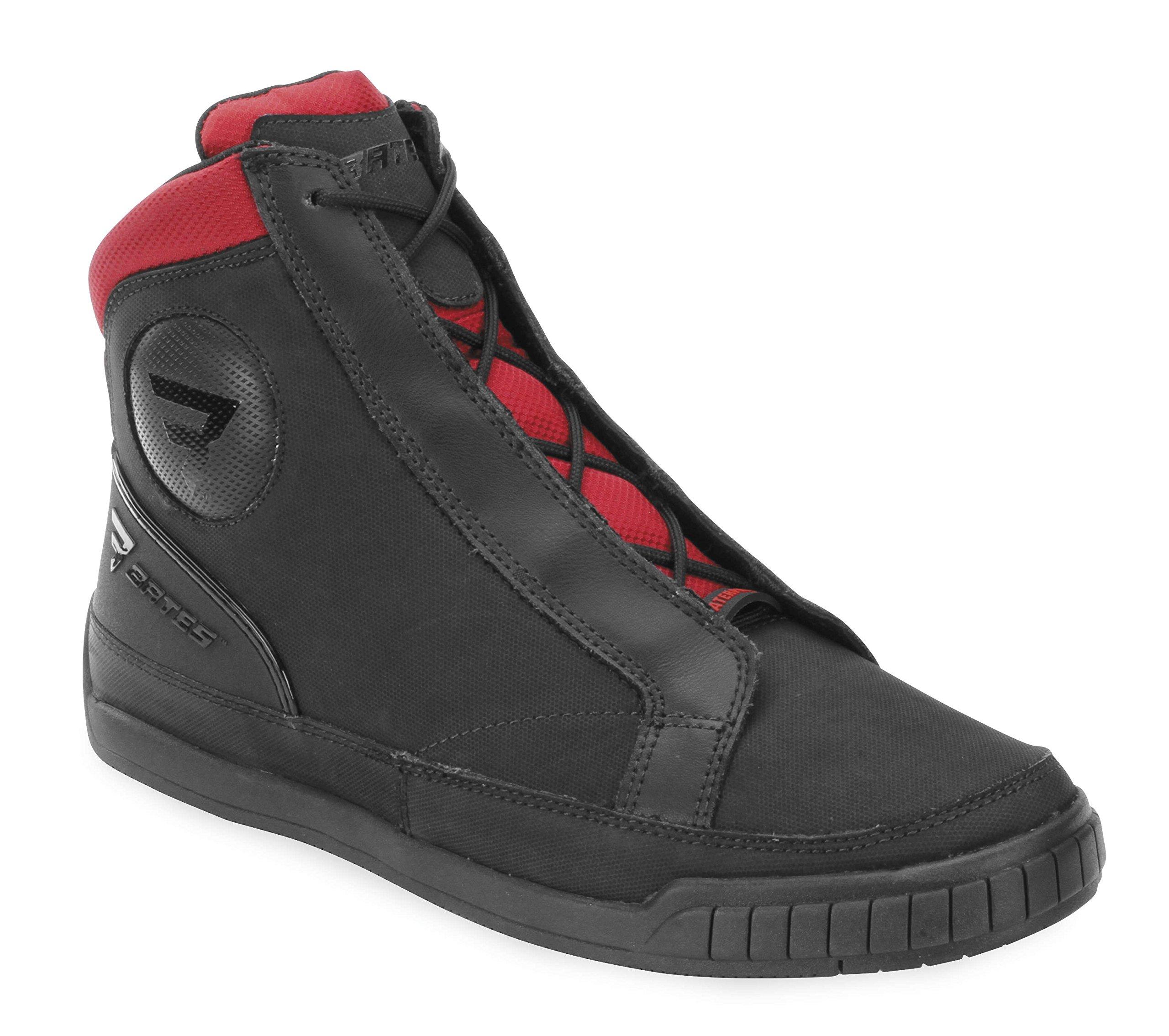 Bates Taser Performance Men's Motorcycle Boots (Black/Red, Size 12)