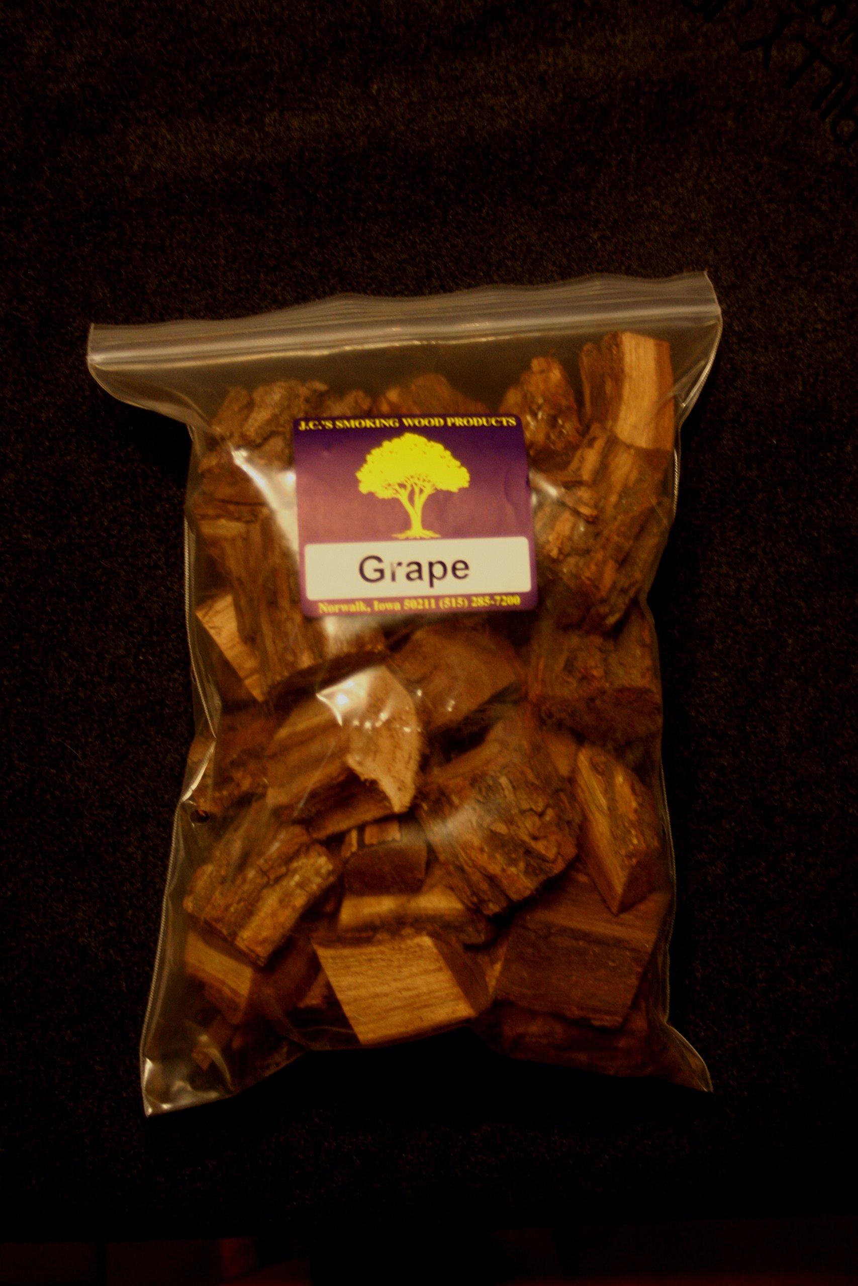 J.C.'s Smoking Wood Chunks - 19#'s/1500 Cu in of Bulk Chunks - Grape