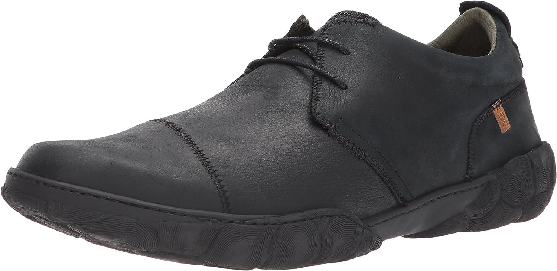 TALLA 43 EU. El Naturalista N5080 Pleasant Black/Turtle, Zapatos de Cordones Brogue para Hombre