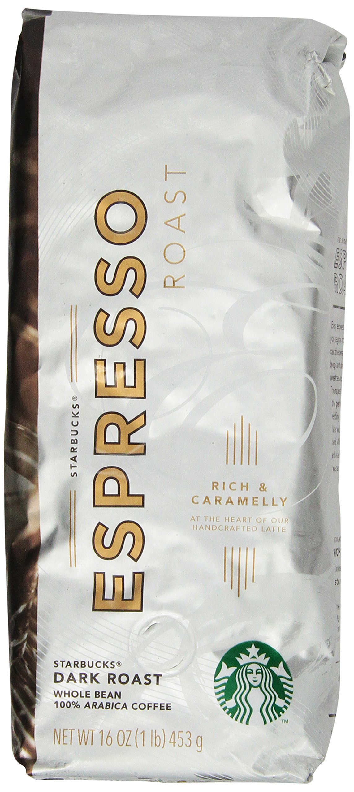 Amazon.com : Starbucks Espresso Roast, Whole Bean Coffee (1lb ...