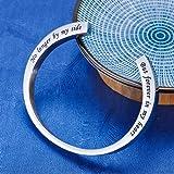 KY Engraved Memorial Urn Bracelet Stainless Steel