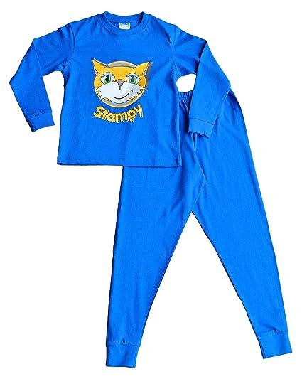 Stampy Cat Unisex Long Pyjamas Nose Face Blue 12