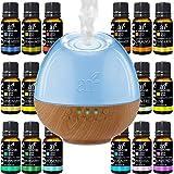 ArtNaturals Sound Machine Diffuser & Essential Oil Set - (300ml Tank & Top 16 Set) - 6 Calming Natural Sounds - Aromatherapy