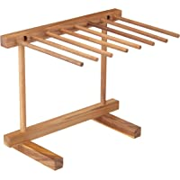 """KitchenCraft World of Flavours Collapsible Wooden Pasta Drying Rack, 36 x 30 x 23.5 cm (14"""" x 12"""" x 9.5"""") - Brown"""