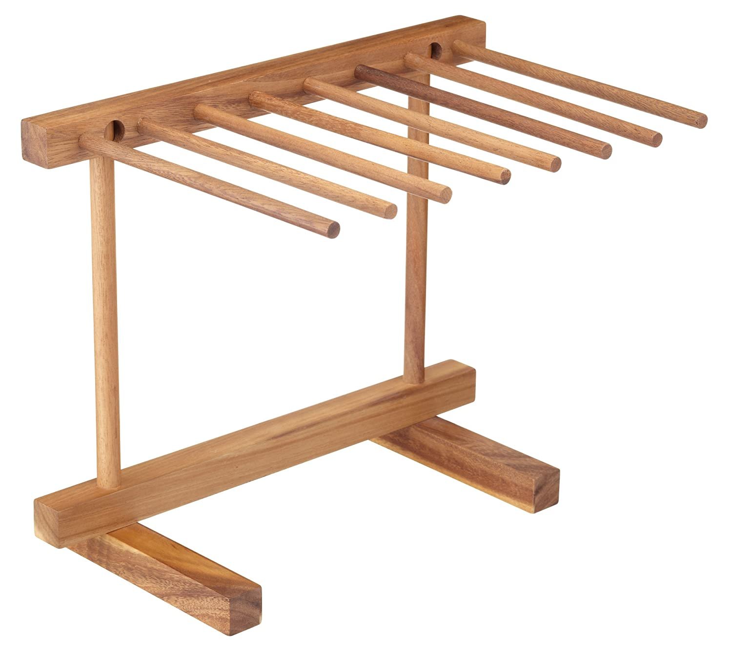 KitchenCraft World of Flavours Collapsible Wooden Pasta Drying Rack 14 x 12 x 9.5 - Brown Kitchen Craft WFITSTAND 36 x 30 x 23.5 cm