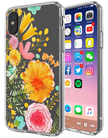 Amazon Com Iphone X Case Swoders Flower Clear Design Shock