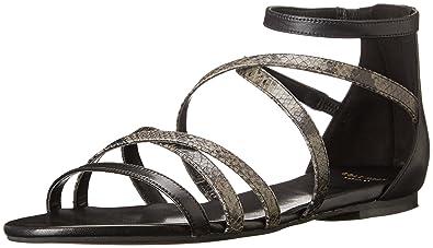 Womens Sandals Cole Haan Mercer Sandal Black/Asphalt Sahara Snake Print