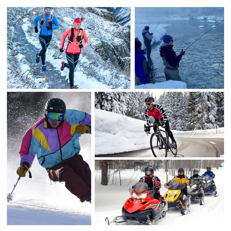 Casco da Ciclismo Esterno Adatto per Adulti Invernale in Pile Spesso Antivento Cappello da Sci Passamontagna da Sci Elastico Taglia Universale TAGVO Passamontagna Multifunzione Scaldacollo