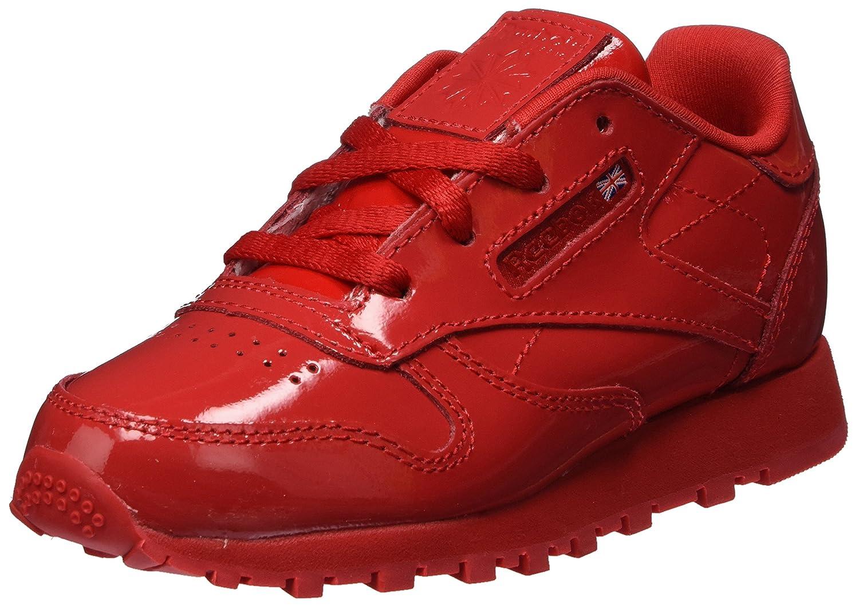 Reebok Classic Leather Patent, Baskets Mixte Bébé Chaussures de Gymnastique Fille Rouge Primal Red 21.5 EU CN1458