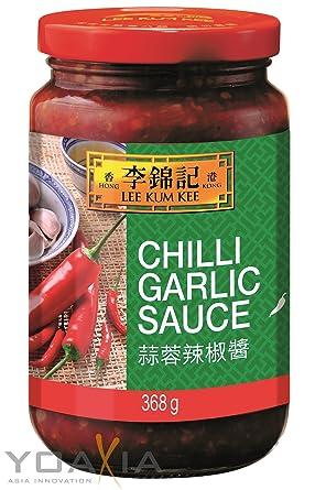 Lee Kum Kee Salsa Chili con Ajos, Especial para todo tipo de Salteados, Picante