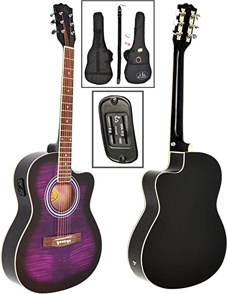 ts-ideen – 4/4 tamaño completo acústica guitarra occidental en ...