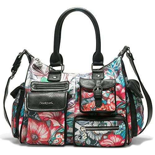 Bols_yandi London Medium Womens Shoulder Bag Turquoise (Turquesa) 15.5x25.5x32 cm (B x H x T) Desigual NXZP7oU