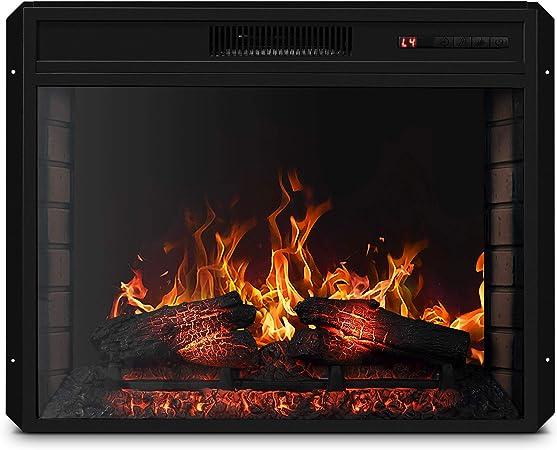 Amazon Com Belleze 28 1400w Electric Fireplace Insert Stove