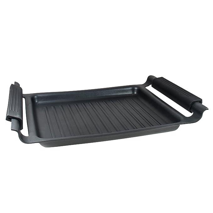 MasterPro Foodies Plancha Grill, Aluminio Forjado, Negro, 37 cm: Amazon.es: Hogar