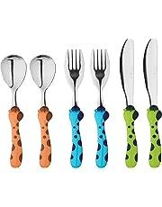 EXZACT in acciaio inox per bambini Posate 3 pezzi Set - 1 x forchetta, 1 x coltelli, 1 x Cucchiai Cena