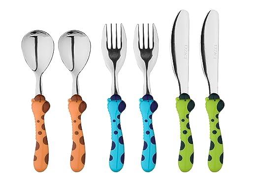 297 opinioni per EXZACT in acciaio inox per bambini Posate 6 pezzi Set- 2 x forchetta, 2 x