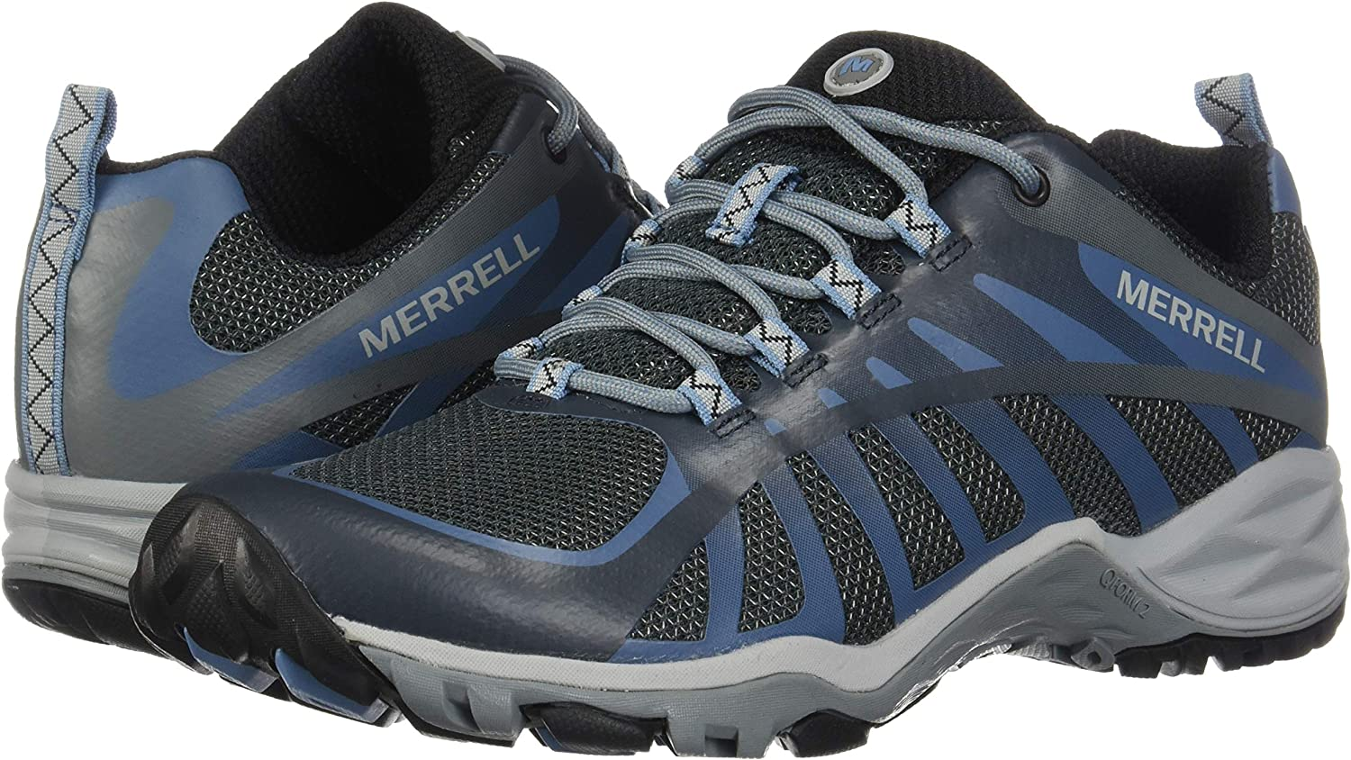 Merrell Women's Siren Edge Q2 Hiking Shoe, Castle Castle Rock/Blue