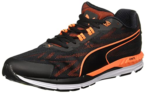 Puma Men s Speed 600 Ignite 2 Black-Shocking O Running Shoes  Buy ... 2bd77eff7