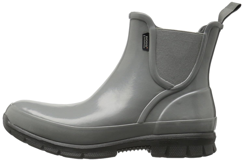 Bogs Women's Amanda Slip on Solid Rain Boot B01J6SQ3HU 7 B(M) US|Gray