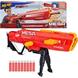Nerf Thunderhawk AccuStrike Mega Toy Blaster - Longest Blaster - 10 Official AccuStrike Mega Darts, 10-Dart Clip, Bipod - for Kids, Teens, and Adults