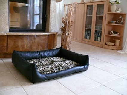 Rex cama para perros Dormir Espacio piel sintética L 80 x 100 Color: Negro/