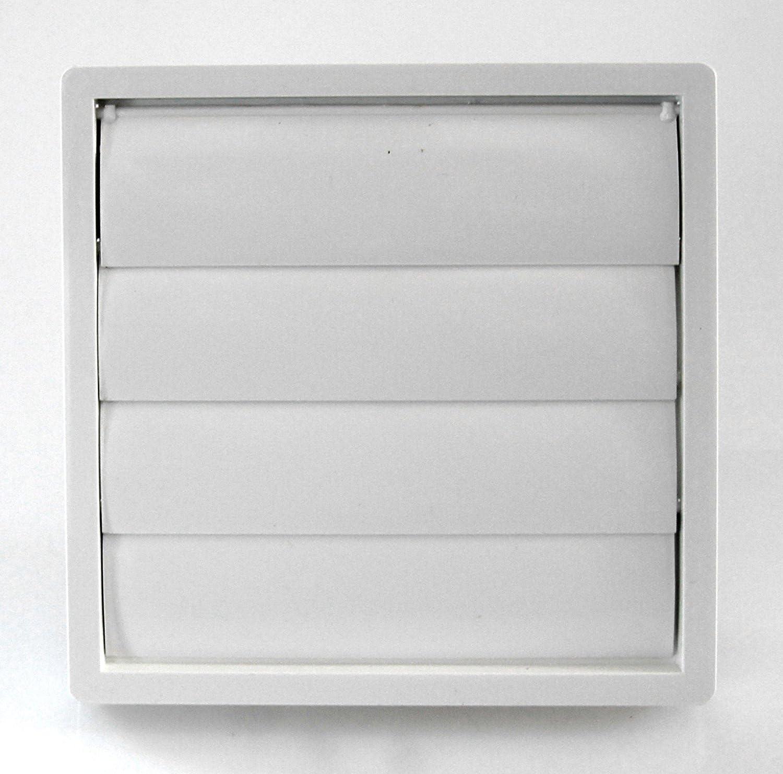 Klimapartner VKE 150 Rejilla de Ventilaci/ón Aire Externo de Acero Inoxidable del Louvre L/áminas