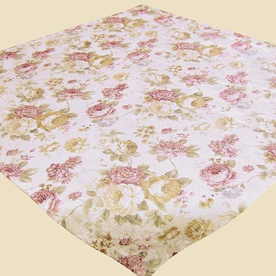 Kamaca Serie Romantic Roses in Creme Rose mit zarten Pastelltönen Markenqualität hoher Baumwolle Anteil (Mitteldecke 85x85 cm