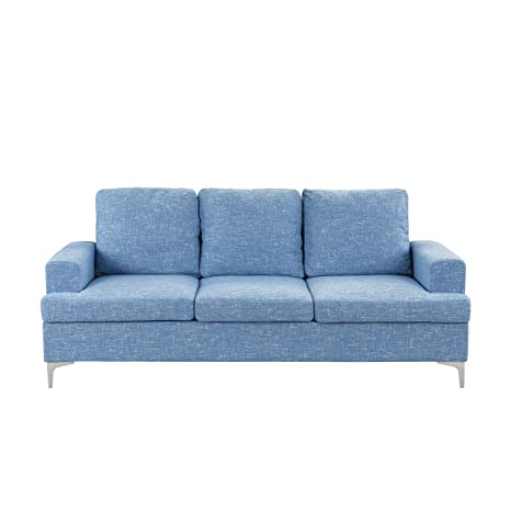 BHDesign ABI - Sofá Moderno y Grande, Tela, Color Azul ...